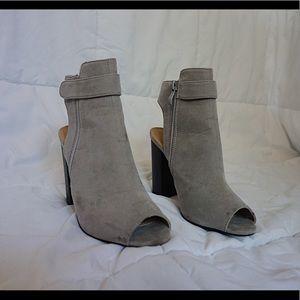 Gray Open Toe/Open Heel Bootie